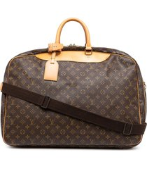 louis vuitton 1997 pre-owned alize two-way travel bag - brown