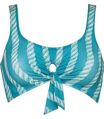 watercult soft retro blue bikini top