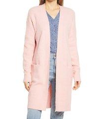 women's caslon long cardigan, size medium - pink