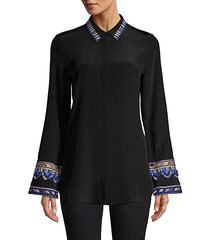 monica embroidered sleeve blouse