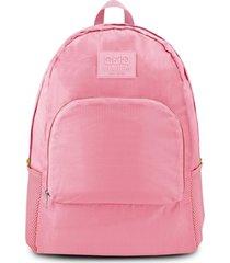 (viagem) mochila dobrável rosa