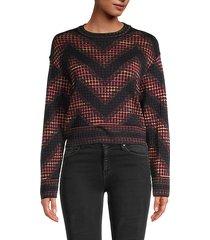 geometric & chevron pullover