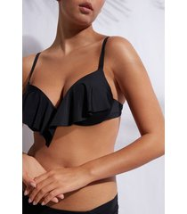 calzedonia super padded push up swimsuit top indonesia eco woman black size 3