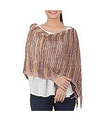 cotton scarf, 'autumn melange' (thailand)