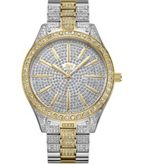 jbw women's cristal diamond (1/8 ct.t.w.) stainless steel watch
