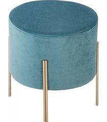 stołek podnóżek na złotych nóżkach