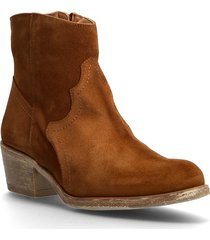 biadavalyn suede boot shoes boots ankle boots ankle boot - heel brun bianco