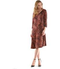 vestido mary leopardo rojo bous