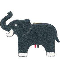 thom browne fluffy-elephant clutch - blue