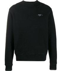 off-white arrow slim-fit sweatshirt - black