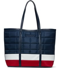 tommy hilfiger quilted robin tote