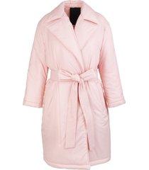 red valentino the black tag coat in pink nylon