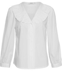 moss copenhagen brisa 3/4 shirt blouse bright white