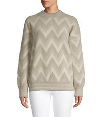 chevron long-sleeve sweater