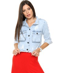 campera celeste byh jeans jasmine