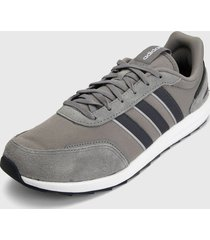 tenis running gris-blanco adidas performance retrorun,