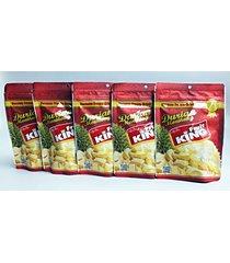fruit king dried durian monthong premium thai halal snack 30g x 5