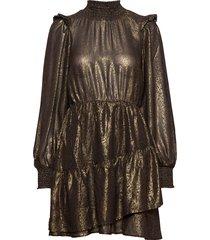 samantha dress kort klänning brun gina tricot
