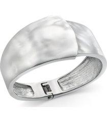 alfani silver-tone sculptural bangle bracelet, created for macy's