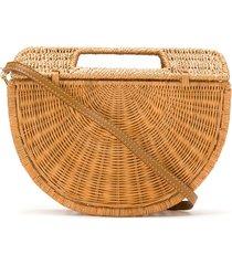 serpui structured shoulder bag - brown