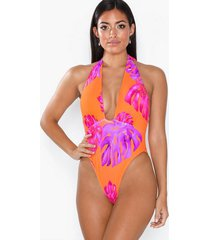 river island halter neck swimsuit baddräkter