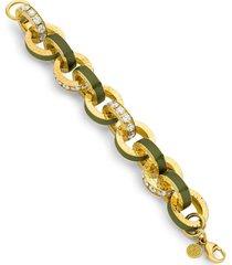 big link army green and diamond bracelet