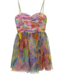patterned dress on straps