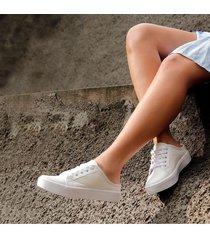 tenis zueco elyse blanco