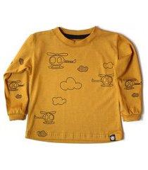 camiseta longa - mostarda