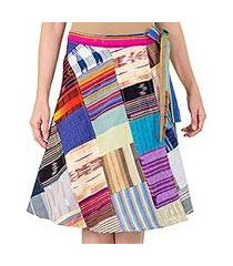 cotton wrap skirt, 'maya mix-up' (guatemala)