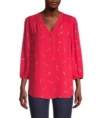 bathing beauties printed blouse