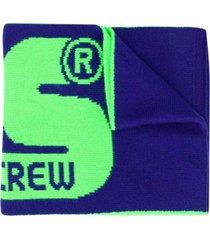 gcds mini purple scarf