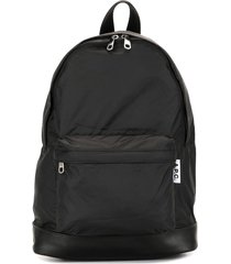 a.p.c. classic zip-top backpack - black