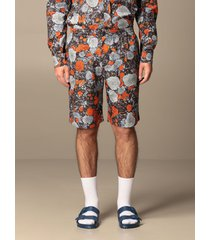 mcq alexander mcqueen mcq short albion mcq bermuda shorts in printed cotton blend