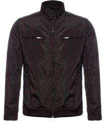 jaqueta plus size com bolso ziper aleatory masculina