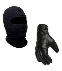 luva motociclista com touca ninja balaclava de brinde