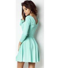 sukienka rozkloszowana miętowa