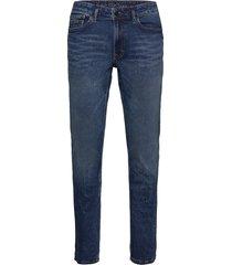 3j slim straight - rocken blue slimmade jeans blå calvin klein jeans