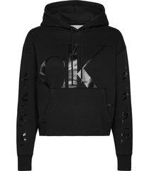 ck eco hoodie hoodie trui zwart calvin klein jeans