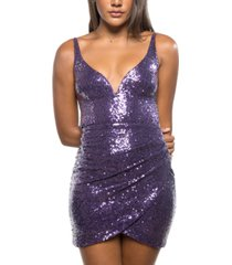 b darlin juniors' sequined open-back bodycon dress
