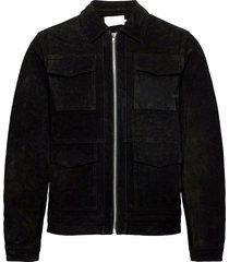 laust suede jacket suede jacket läderjacka skinnjacka svart casual friday