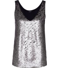 top con paillettes reversibili (marrone) - bodyflirt