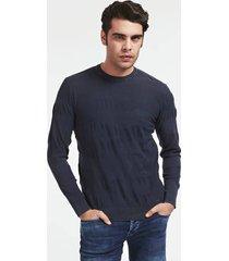 żakardowy sweter barwiony w całości