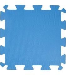 tapete loja da maria eva 50x50x1cm azul royal - tricae