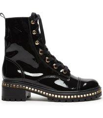 andorra patent leather bootie - 11 black verniz