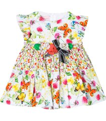 miss blumarine flared sleeveless dress