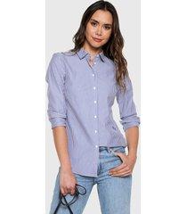 camisa azul-blanco tommy hilfiger