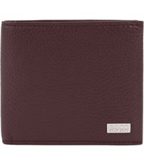 boss eight card leather wallet |dark red| 50390402-601