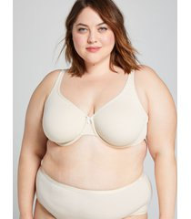 lane bryant women's cotton unlined full coverage bra 46g beige