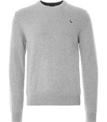 paul smith pullover crew neck jumper   grey   143u-e21086